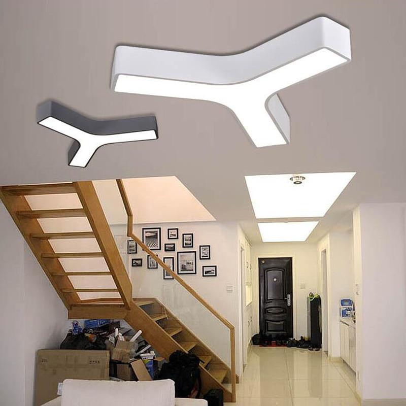 (WECUS) creative triangular ceiling lamps, LED office lights, den / aisle ceiling lamp, diameter 45cm 36W