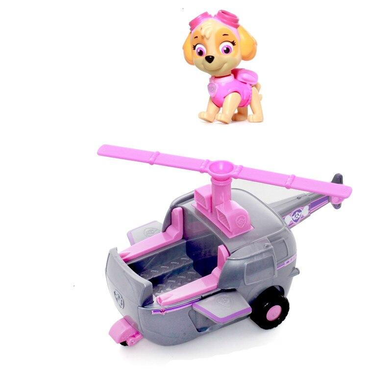 Щенячий патруль Скай высокие Flyin вертолет работает с Patroller щенок патруль автомобилей фигурку Patrulla Canina игрушки для детей подарок
