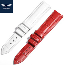 JEAYOU Hot Sell Leather Watch Strap Band Watch Bracelet For Women Tissot/Mido/Casio White/Red/Pink/Blue/Purple /14/16/18/20mm