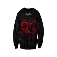 The Most Avant Garde Sweater 2017 Newest Sweatshirts 3D Print Hoodies The Temptation Of Roses