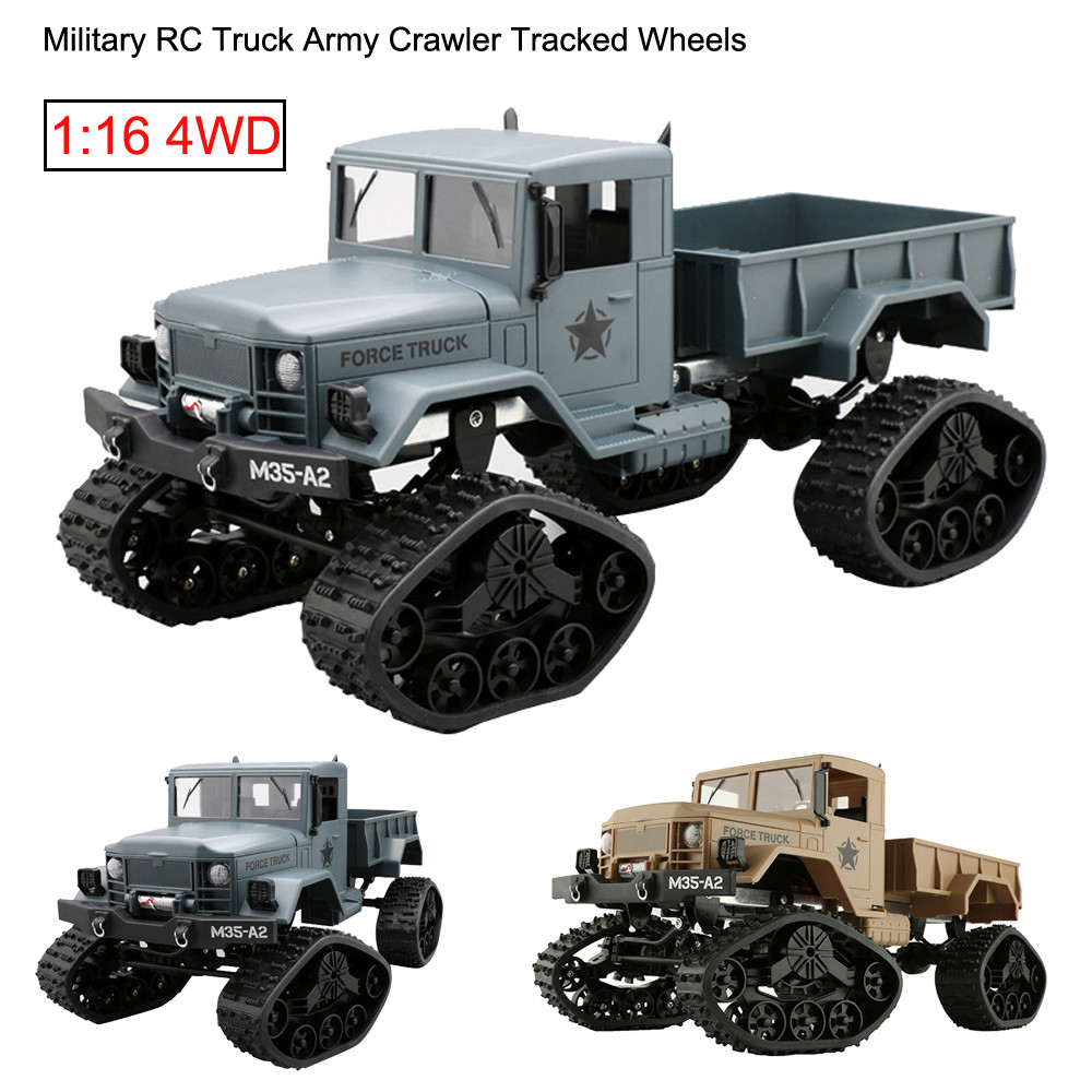 NEW RC Truck Military Army 1:16 4WD Tracked Wheels Crawler Off-Road Car RTR RC Truck Remote Control Car toys for children toys for boys rc model big off road rally trucks remote control truck rc truck trailer hercules remote control toys rc trailer