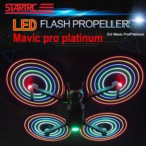 Image 3 - STARTRC Per DJI Mavic pro Platinum LED Flash 8331 eliche Eliche Per DJI Mavic Platino A Basso Rumore a Sgancio Rapido drone