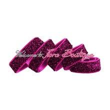 """Ярко-розовые блестящие эластичный, 3/"""" металлическая эластичная лента"""