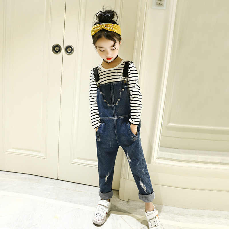 7a6787046df Detail Feedback Questions about Kids denim overalls 2019 autumn ...