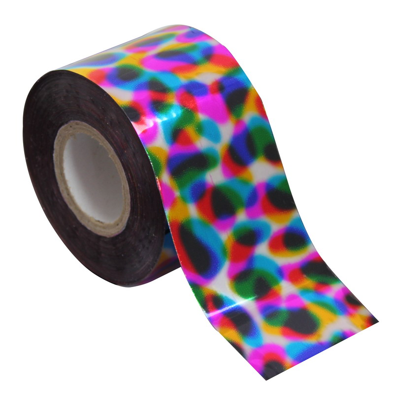 120m*4cm Rainbow Effect Nail Art Transfer Foil Roll DIY Manicure Nail Art Stickers Decals Nail Decorations Nail Beauty Paper 1 roll 120m 4cm holographic nail foil rainbow transfer foil sticker finger wraps nail art diy adhesive manicure beauty decals