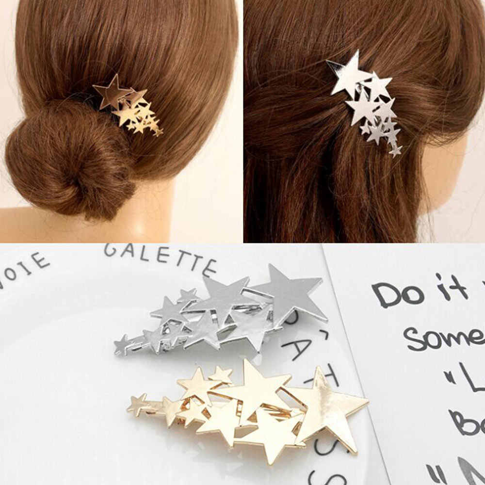 2019 New Women Cute Acetate Star Alloy Hair Clip Headwear Hair Ornament Headband Hairpin Barrette Fashion Hair Accessories
