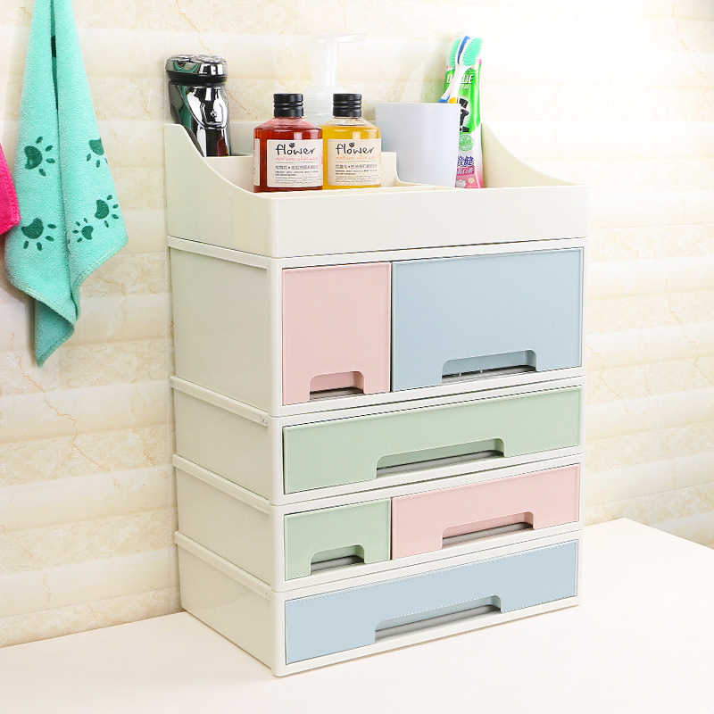 1PCS Creative Desktop Organizer Jewelry Dresser Drawer Miscellaneous Plastic Toilet Multilayer Cosmetic Storage Box