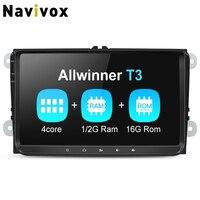 Navivox 1din/2din PX3/PX5/T3/T8 Автомобильный мультимедийный плеер gps для Tiguan/Golf/Polo/Passat/b7/b6/SEAT/leon/Skoda/Octavia/Volkswagen