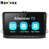 Navivox 1din/2din PX3/PX5/T3/T8 Car Multimedia Player GPS For Tiguan/Golf/Polo//Passat/b7/b6/SEAT/leon/Skoda/Octavia/Volkswagen