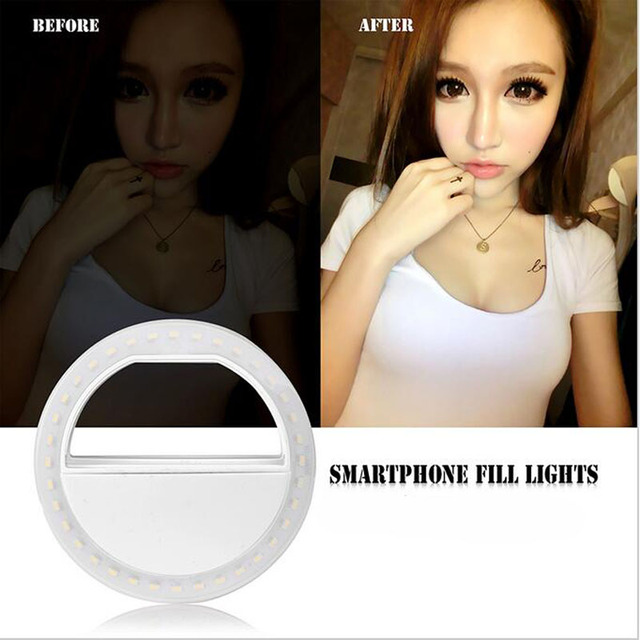 Selfie Ring Flash Led Fill Light Lamp Camera Photography Video Spotlight for iphone X 8 7 Samsung S9 S8 Plus Xiaomi Huawei Phone 1