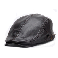 Svadilfari 2017 New 100% High quality Genuine Leather Berets for Men Women Autumn Winter Men's Visor Flat Hat Beret Fashion Cap