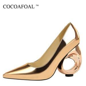 COCOAFOAL Woman Wedding High Heels Pumps Bridal Shoes 2018 e6d1a375b15e