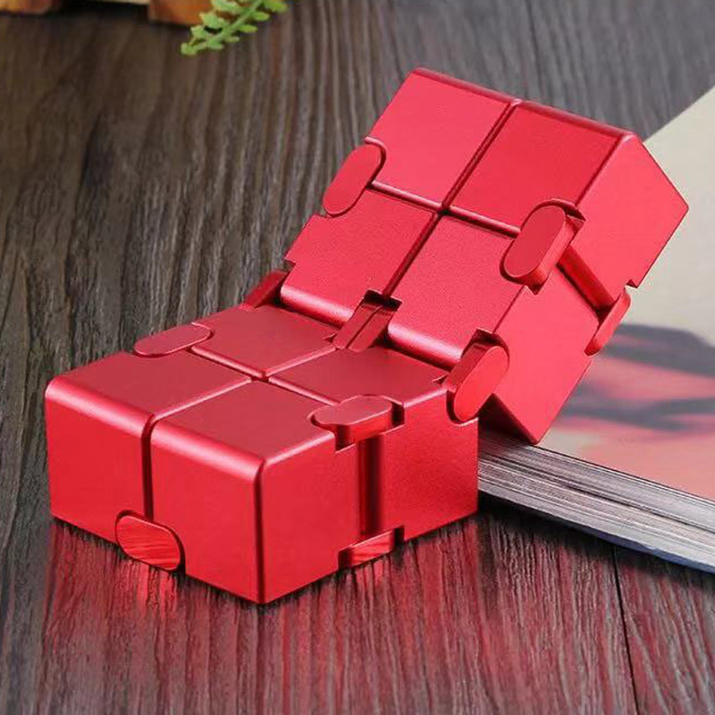 Infinity Cube Metal Antistress Toys For Adults Aluminium Deformation Magical Infinite Cube Toys Stress Reliever For EDC Anxiety