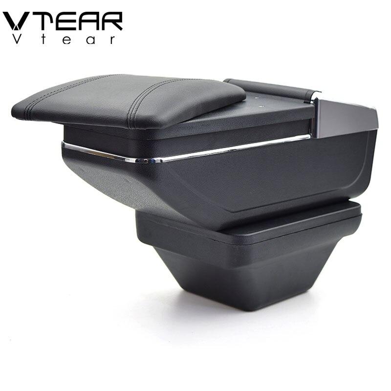 Vtear para MG ZS reposabrazos Centro de coche consola caja de almacenamiento reposabrazos piezas interiores accesorios consola central decoración auto 2018