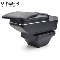Vtear for MG ZS armrest box central Store content box products interior Armrest Storage car styling accessories part 2017 2019