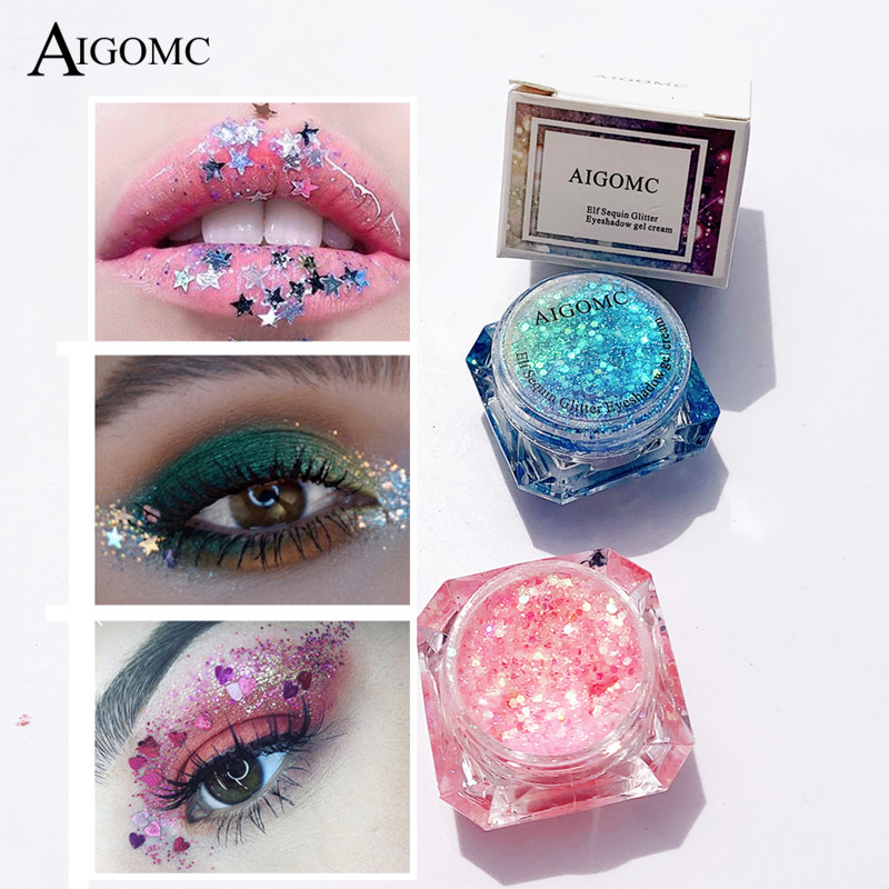 Glitter Face Glow Shimmer Liquid Maquiagem Eye Pigmento Para Os Olhos Mermaid Cream Highlighter Brighten Makeup