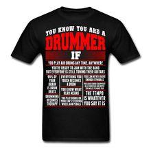 T Shirt 2017 New Short  Anytime Drummer Facts Men O-Neck Short-Sleeve Shirts