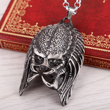 Movies Alien necklace Horror Mask  Pendant Necklace Metal Jewelry Halloween gifts for Men Boys