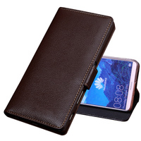 CJ08 Genuine leather wallet flip case cover for Huawei Y7 Prime phone bag for Huawei Enjoy 7 Plus case with kickstand