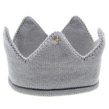Baby Kids Hat for girl boy Cap New Cute Crown Knit Headband Autumn Newborn Children Hats photography props A#(China)