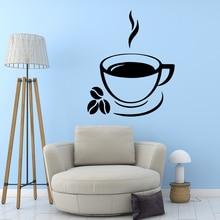 Creative coffee Wall Sticker Home Decoration Accessories Waterproof Decals Art