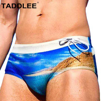 Taddlee Brand Sexy Swimwear Men Swimsuits Swim Boxer Briefs Bikini Gay Penis Pouch Pad Inside Enhance Frontal Board Surf Trunks
