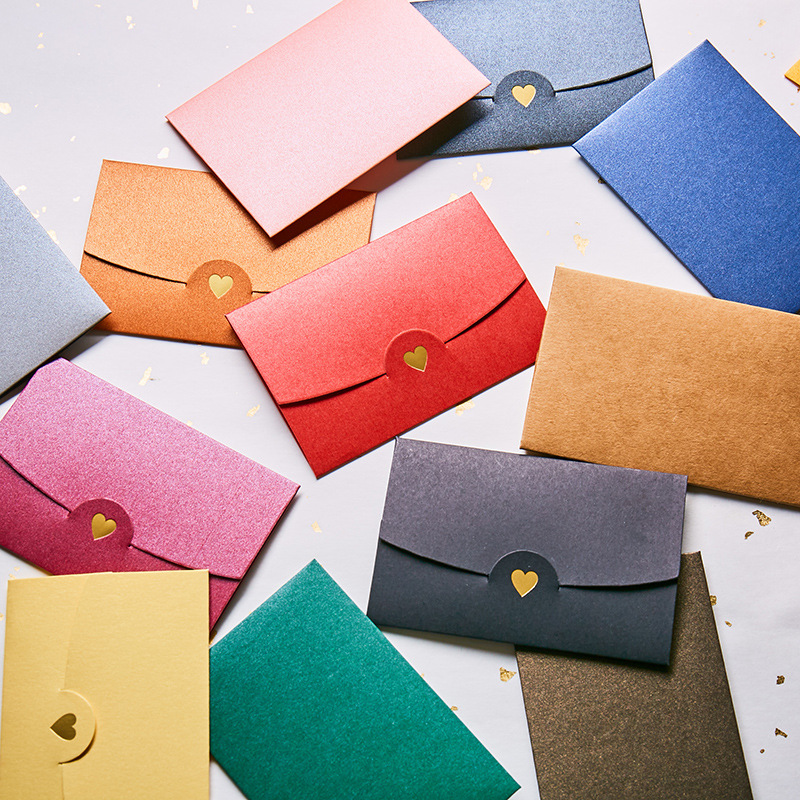 40pcs/lot European Vintage Paper Envelopes Love Retro Buckle Decorative Envelope For Wedding Letter Invitation Scrapbooking Gift