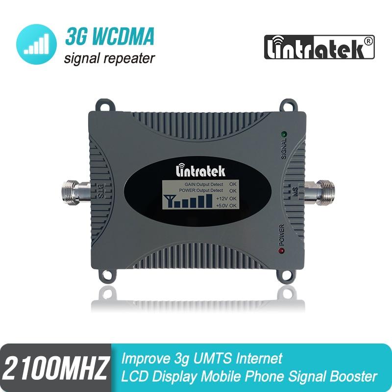 Lintratek 3G WCDMA UMTS 2100 mhz Zellulären Signalverstärker 65dB Gain Band 1 Booster Verbessern 3G Internet MINI größe Verstärker #4