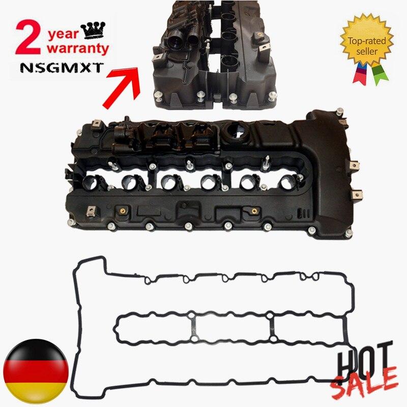 Cylinder Head Top Cable Valve Cover For BMW N54 335xi 335i 535i X6 135i Z4 535ixDrive 335ixDrive 740i 740Li 335is F04 E89 1 set wastegate rattle flapper rebuild kit for bmw 335i 135i 535i n54 mitsubishi td03 csl2017
