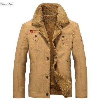 best service d74a9 16b28 M-5XL männer jacke mäntel marke kleidung herbst jacken Mode herren  bomberjacke dicke warme winter outwear männliche militärische C1427