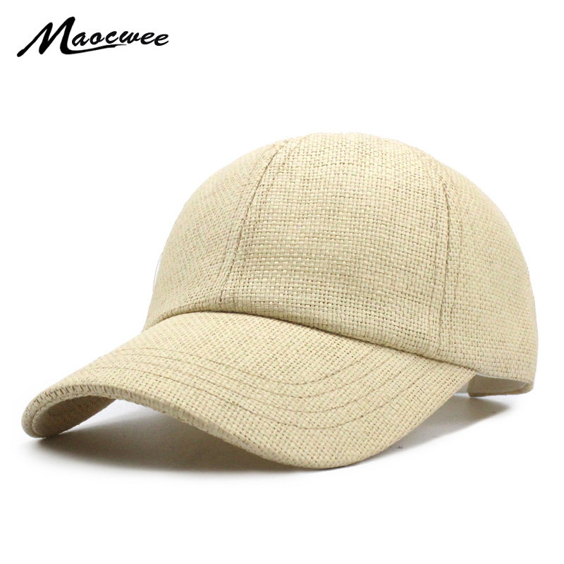 New spring and summer straw   baseball     cap   hat fashion travel hat equestrian for men and women bone gorras Casual hat wholesale