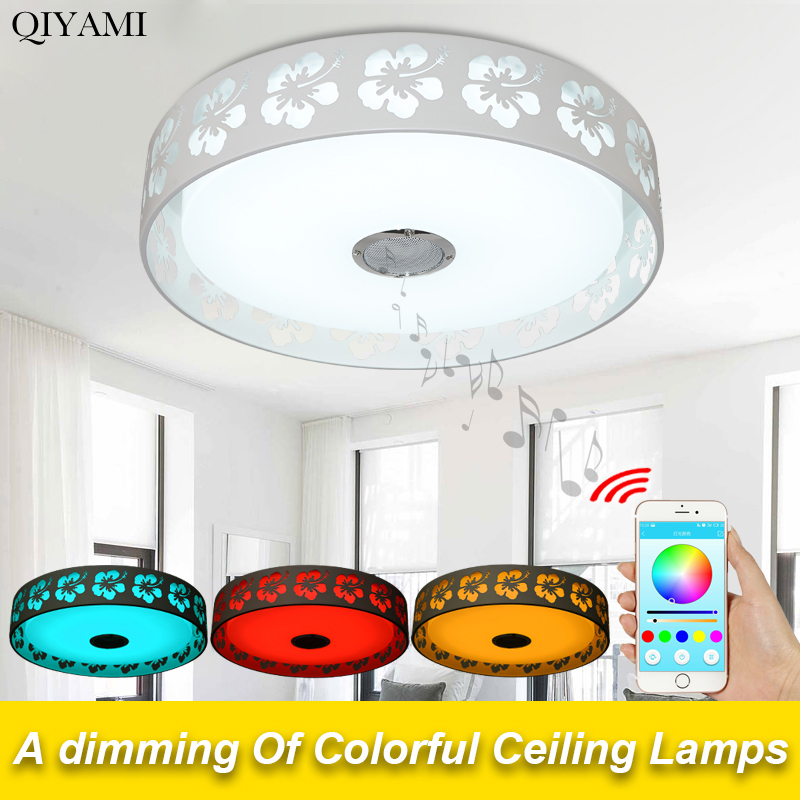 Modern led Ceiling Lights living room  with remote control or phone app Bluetooth Music Lighting Ceiling Lights For Kids Room