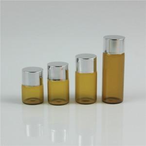 Image 4 - 100 Drams יח\חבילה 1 ml 2 ml 3 ml 5 ml בקבוק זכוכית ענבר עם מכסה אלומיניום זכוכית שמן אתרים בדיקת מדגם בושם בקבוקי בקבוק