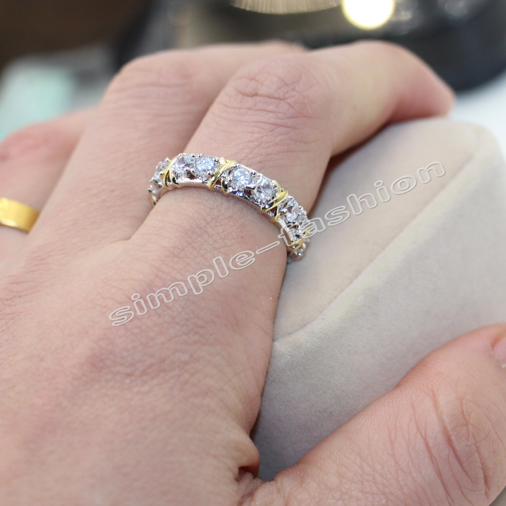 Fashion Jewelry Women Engagement Jewelry Gem 5A Zircon stone 10KT ...
