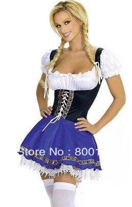 SPEDIZIONE GRATUITA Womens Birra Domestica Wench Tedesca Oktoberfest Costume plus size costume S-6XL