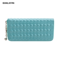 Skull Zipper Embossing PU Leather Purse Long Style Lady Wallet New