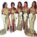 Five styles Plus size Long Gold plum Bridesmaid Dresses Sash bridesmaid dresses