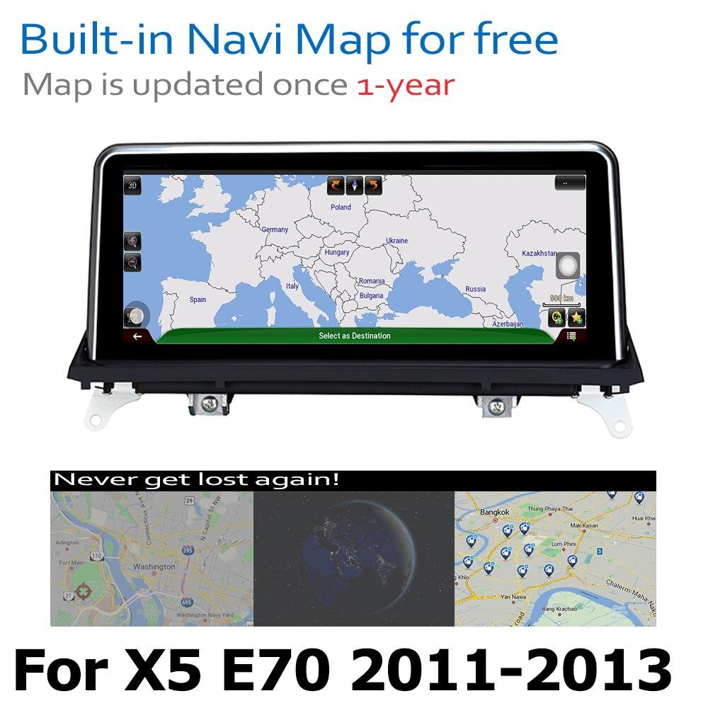 מערכת ניווט GPS DVD לרכב נגן עבור BMW X5 E70 2011 ~ 2013 המקורי CIC מערכת אנדרואיד 8.0 עד Autoradio ניווט GPS (5)
