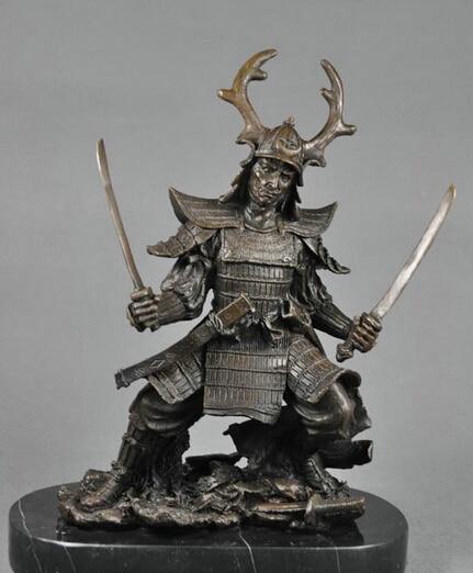 xiuli 003254 art deco sculpture samurai bronze statue in statues