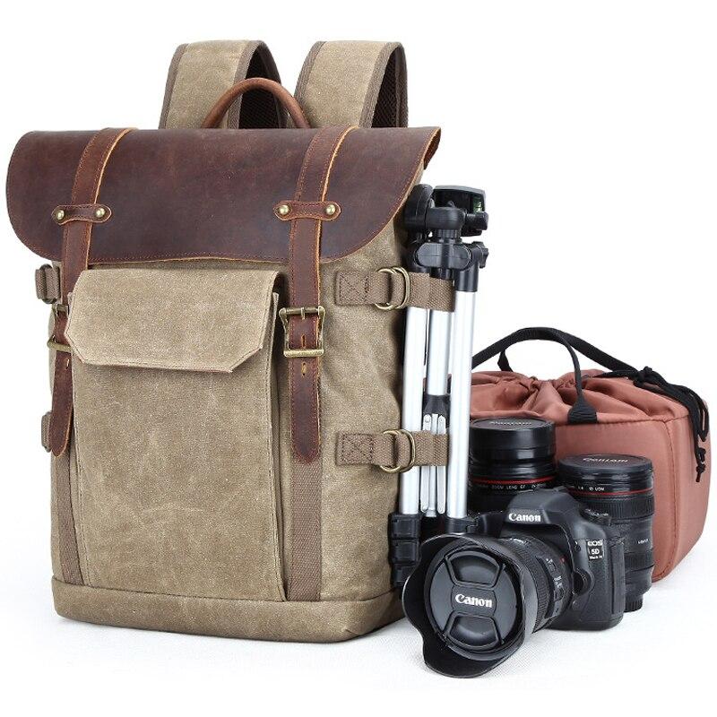 Sac photo étanche en toile sac à dos DSLR extérieur National sacs géographiques NG étuis d'appareil photo résistant à l'usure avec doublures pour Canon
