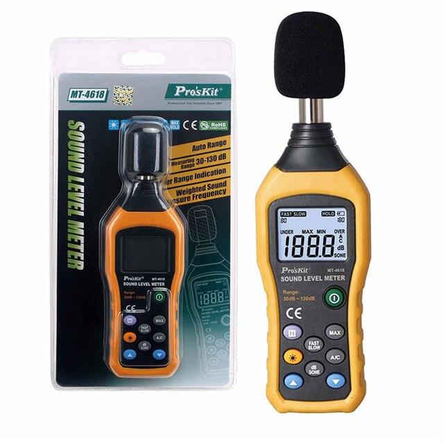 MT-4618-C sonomètres numériques 30-130dB Instrumentation décibels de bruit testeurs de surveillance Metro Diagnostic-outils