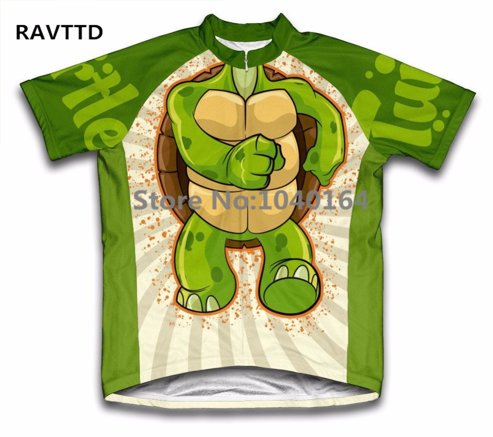 Turtle Kids Boy Cartoon Cyklistika Jersey Krátký rukáv Mtb Jersey Ropa Cyklistika Bike Bicycle Clothing Top