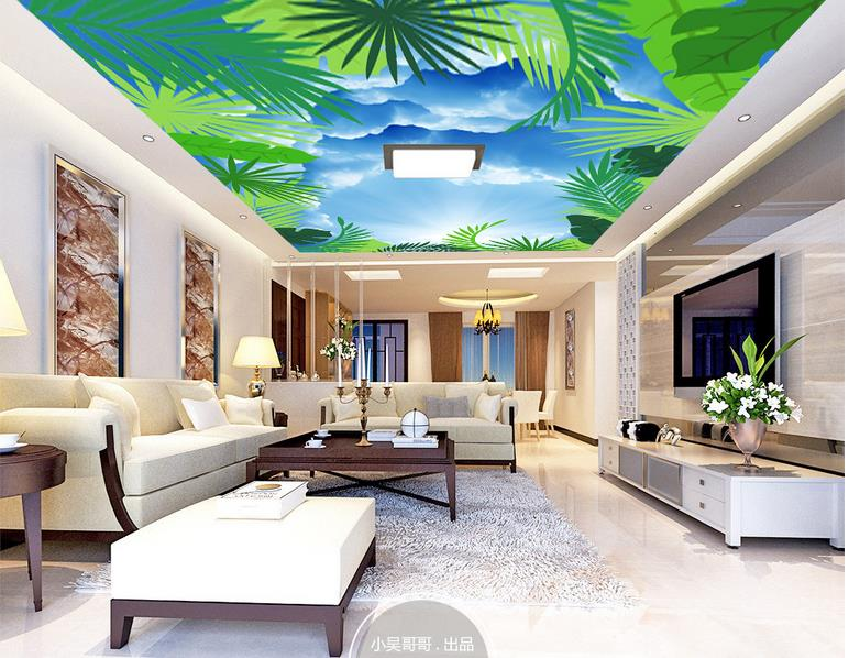Greenery wallpapers promotion shop for promotional for Kitchen 3d wallpaper