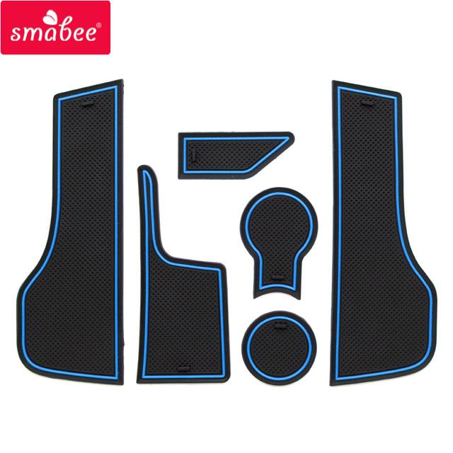 smabee Gate slot pad For LADA vesta Non-slip Interior Door Pad/Cup  VESTA MAT 6pcs pvc red blue white black