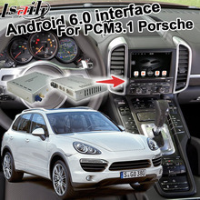 Android 6,0 GPS caja de navegación para Porsche Cayenne PCM 3,1 opcional Carplay google jugar youtube waze google Mapa Interfaz de vídeo
