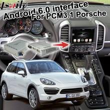 Android 6,0 GPS навигационная коробка для Porsche Cayenne PCM 3,1 опционально Carplay google play youtube waze google карта видео интерфейс