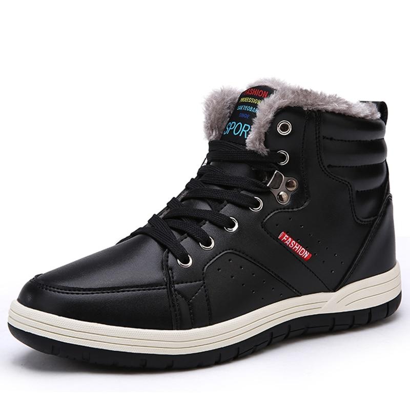 Winter Männer Schuhe Warme Schnee Stiefel Männer Wasserdichte Pu Military Stiefel Mode Baumwolle Schuhe Gleitschutz Stiefeletten Zapatos De Homre