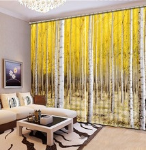 Home Decoration Living Room Natural Art forest Curtains for living room