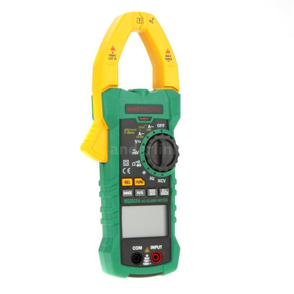 MASTECH MS2015A True RMS 6000 Counts 1000A Multimeter AC/DC Voltage Current Frequency Capacitance Tester digital dc ac clamp meters multimeter true rms voltage current resistance capacitance 1000a tester mastech ms2115a