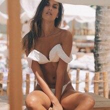 Бразильский бикини спортивный купальник женский сексуальный купальный костюм с открытыми плечами купальный костюм Пляжная одежда сплошные бикини набор Maillot